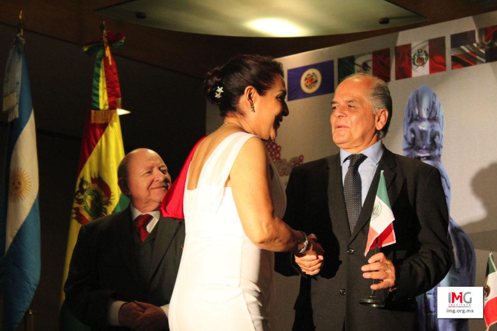 María del Refugio Ruíz Moreno Ganadora del Premio Internacional Maya 2017. Premio otorgado por el Instituto Mejores Gobernantes A.C