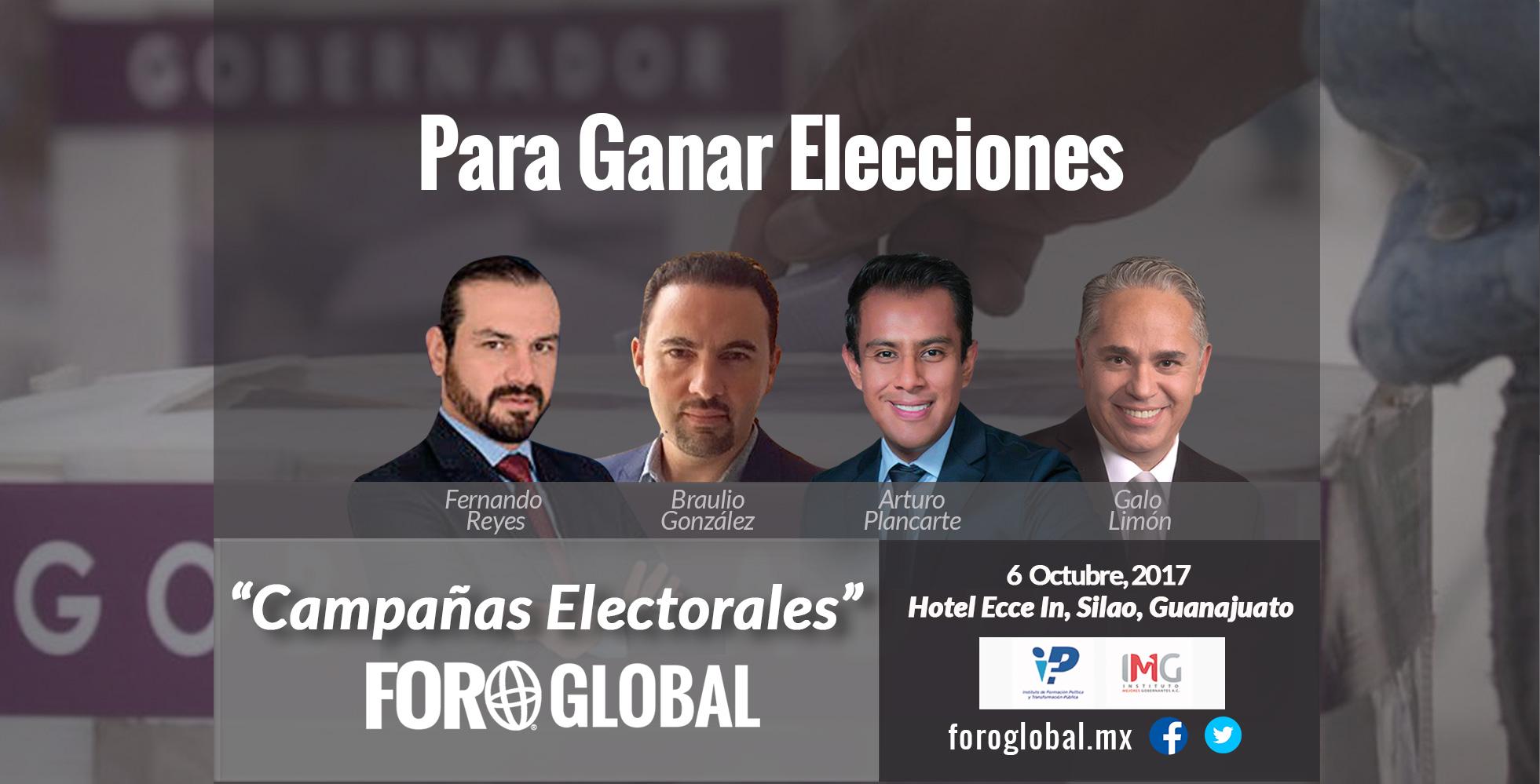 Adquiere claves de éxito para organizar y #ganar campañas electorales. #CómoLlevarUnaCampaña #CampañasElectorales Campañas Electorales - Foro Global foroglobal.mx WhatsApp (462) 139 55 54